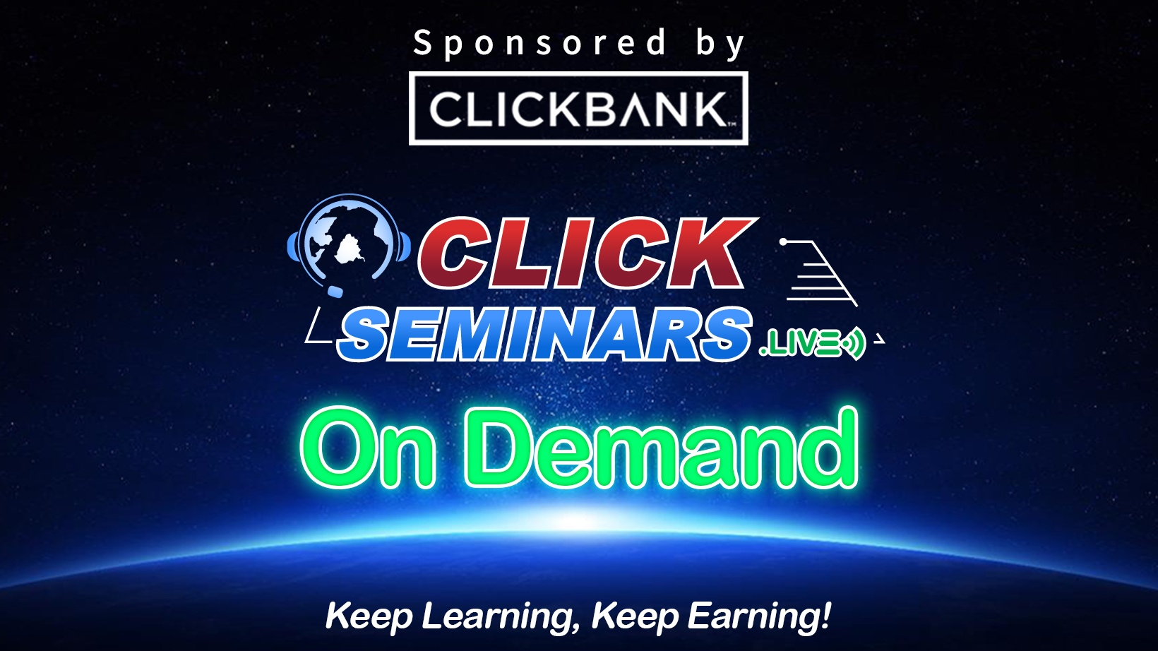 Click Seminars.Live On Demand Logo